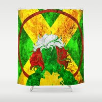 rogue Shower Curtains featuring Rogue by Some_Designs