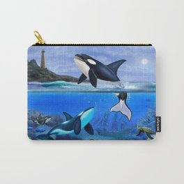 THE ORCA FAMILY Carry-All Pouch