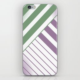 Green and Violet Stripes iPhone Skin