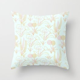 Meadow Slumbers in Pink Throw Pillow