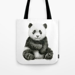 Panda Baby Watercolor Tote Bag