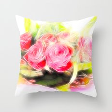 Bouquet of red Throw Pillow