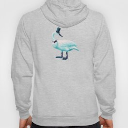 Funny Swan With Bowtie And Cylinder Hat Hoody