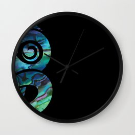 Tiki Black Wall Clock