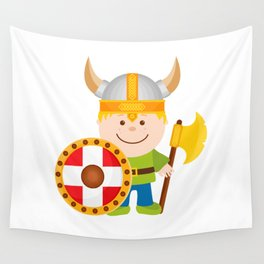 Little Viking Wall Tapestry