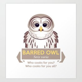 Cry of the Barred Owl Art Print