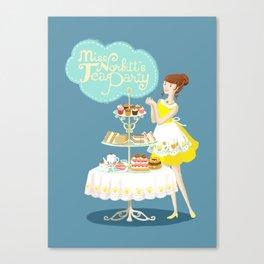 Miss Norbitt's Tea Party Canvas Print