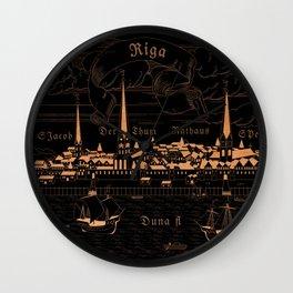 Riga 1544 (mahogany inverted) Wall Clock