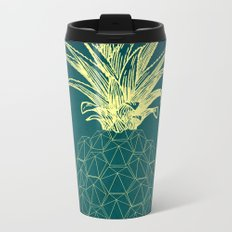 y-hello pineapple Metal Travel Mug