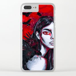 Raven Girl Clear iPhone Case