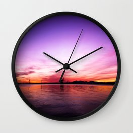 Sunset over the Firth of Clyde Wall Clock
