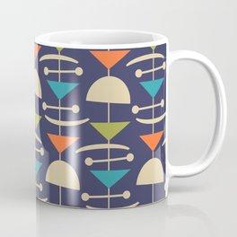 Retro Mid Century Modern Abstract Mobile 646 Blue Orange Olive and Beige Coffee Mug