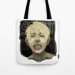 Cut on the Dotted Line Tote Bag