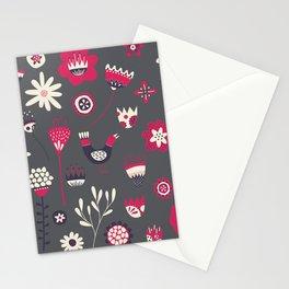 Scandi Floral Dark Stationery Cards