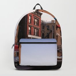 Harlem during dusk Backpack