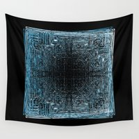 code Wall Tapestries featuring QR CODE by K_REY_C
