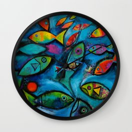Plenty of fish in the sea Wall Clock