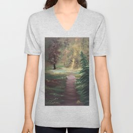 Warm Autumn day Unisex V-Neck