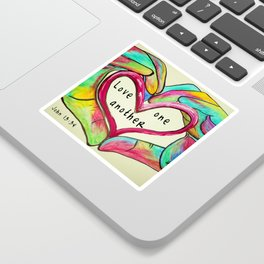 Love One Another John 13:34 Sticker