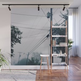 Foggy Lines Wall Mural