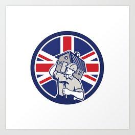 British Building Contractor UK Flag Icon Art Print
