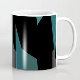 teal and black abstract Coffee Mug