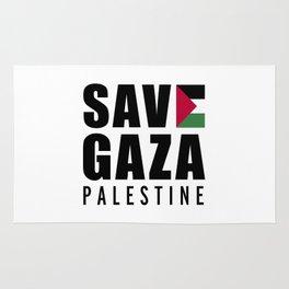 Save Gaza Quote Rug