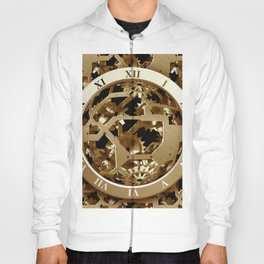 Steampunk Clocks  Gold Gears Mechanical Gifts Hoody