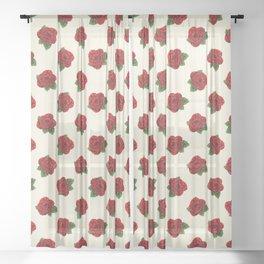 Polygonal Rose Sheer Curtain
