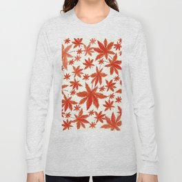 red maple leaves pattern Long Sleeve T-shirt