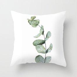 Eucalyptus, Minimalist Photography Throw Pillow