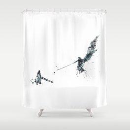 Final Fantasy Watercolor Shower Curtain