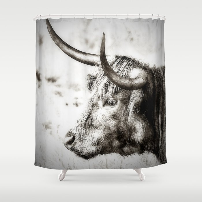 Longhorn Shower Curtain By Linseywilliams