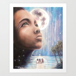 The Moon - Tarot Card Art Art Print