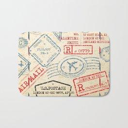 Retro Stamp Bath Mat