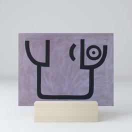 signo 7 negro Mini Art Print