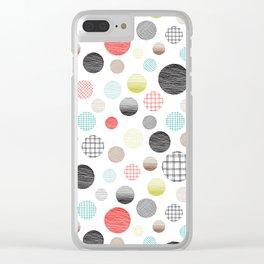 Drawn Circles Clear iPhone Case