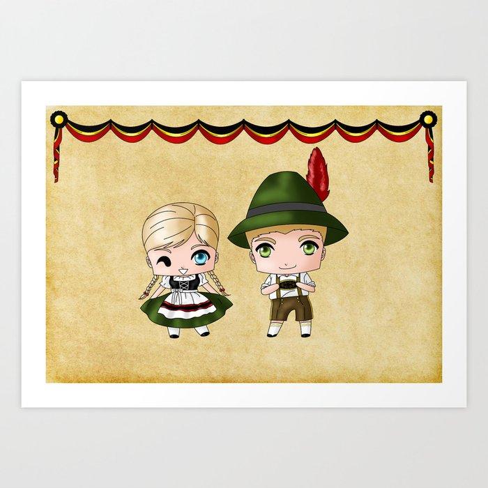 German Chibis Art Print