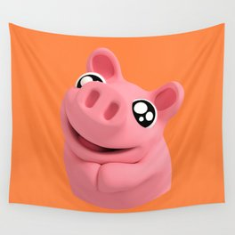 Rosa the Pig is Cute Wall Tapestry