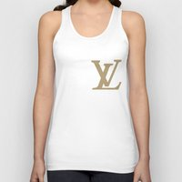 lv Tank Tops featuring Side LV by Goldflakes