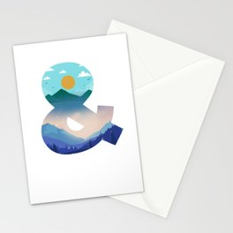 Forest Sunset Mountain Wildlife Wilderness Gift Night And Day Landscape Stationery Cards
