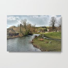 River Wye at Bakewell Metal Print