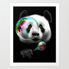 PANDA BUBLEMAKER Art Print