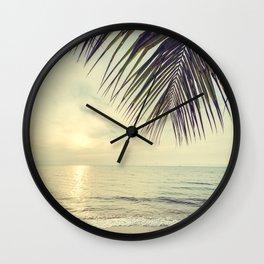 Vintage paradise Wall Clock
