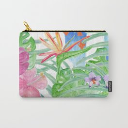 Malia's Tropical Print Carry-All Pouch