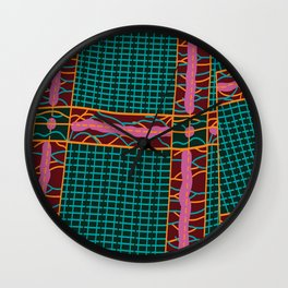 Kente Cloth Design Wall Clock
