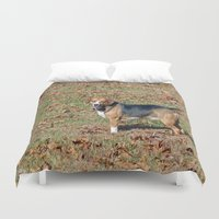 beagle Duvet Covers featuring Beagle by Frankie Cat