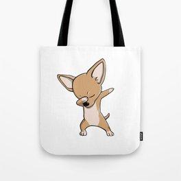 Funny Dabbing Chihuahua Dog Dab Dance Tote Bag