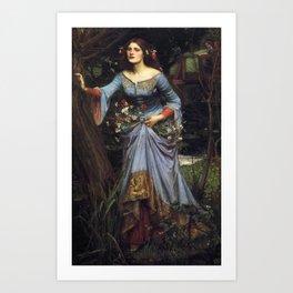 John William Waterhouse Ophelia 1894 Art Print