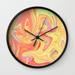 Liquefied colors 2 Wall Clock